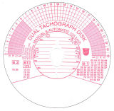 Диаграмный диск тахографа
