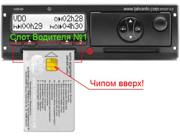 инструкция по работе с картой водителя - фото 2